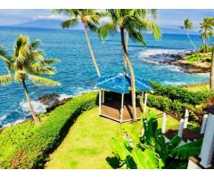 Ocean Front Estate Home - Napili 4bdm with Office & guest quarters